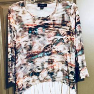 Like new multi color unique Karen Kane sweater